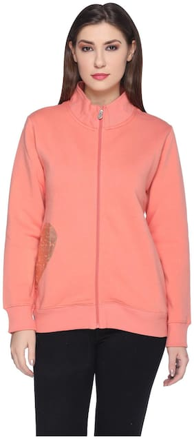 RF RAVES Women Solid Sweatshirt - Pink