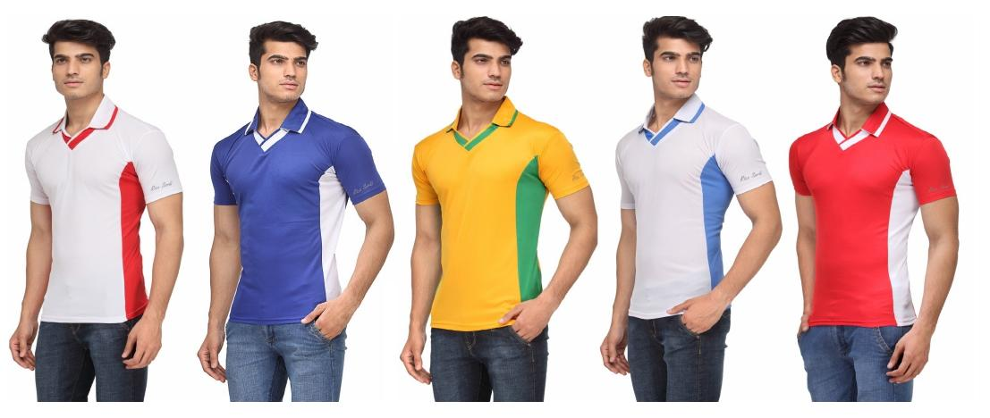 46f948b0554 Buy Rico Sordi Multicolour V -Neck T Shirt (Pack Of 5) Online at Low Prices  in India - Paytmmall.com
