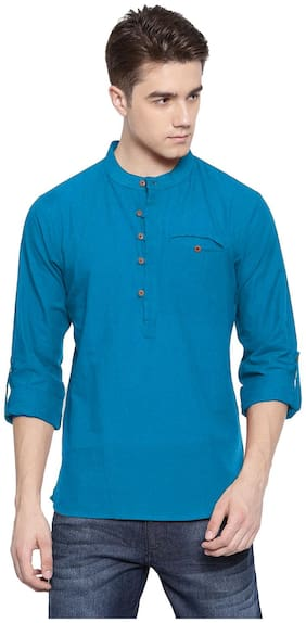 Riders Men Blue Regular Fit Kurta