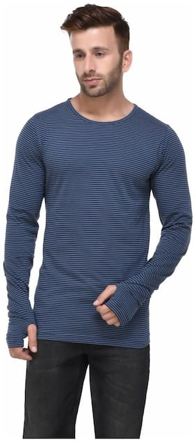 Men Round Neck Striped T-Shirt ,Pack Of Pack Of 1