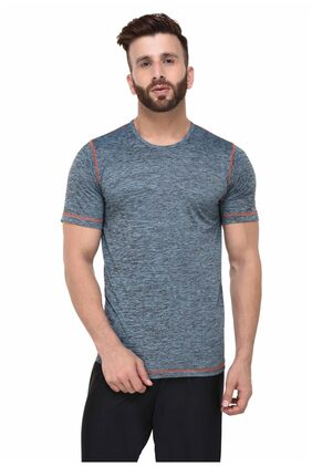 Rigo Men Round Neck Sports T-Shirt - Grey