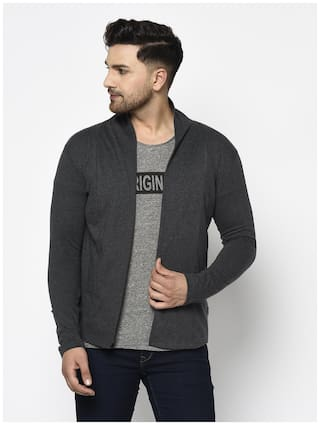 RIGO Men Grey Solid Shrug