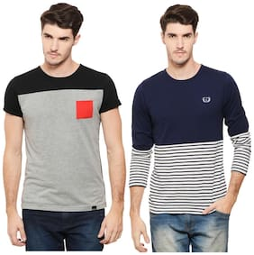 Men Crew Neck Colorblocked T-Shirt