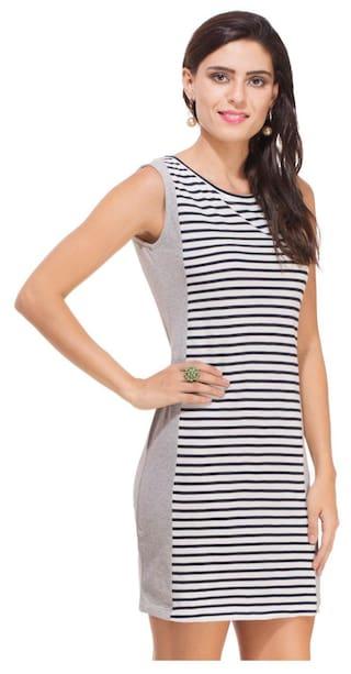Striped Melange and Dress Panel Grey Rigo qFwgIg