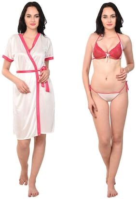 RIKOSA White Nighty with Robe
