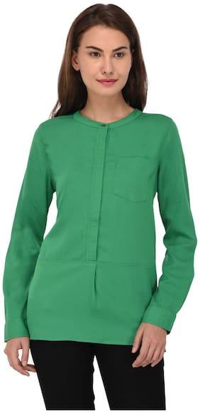 SVTADA COLLECTION Women Solid Regular top - Green
