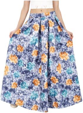 SVTADA COLLECTION Floral A-line Skirt Maxi Skirt - Blue
