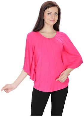 SVTADA COLLECTION Women Solid Regular top - Pink