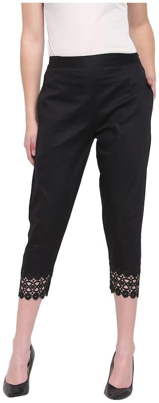 RIVI Women Black Slim fit Regular trousers