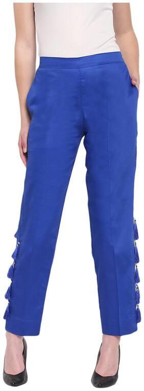 RIVI Women Blue Regular fit Regular trousers