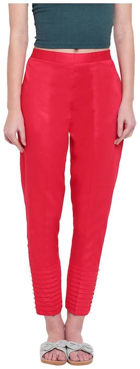 RIVI Women Red Regular fit Regular trousers