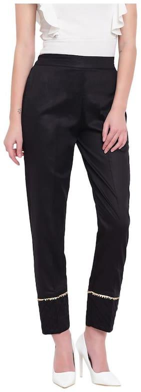 RIVI Women Black Regular fit Regular trousers
