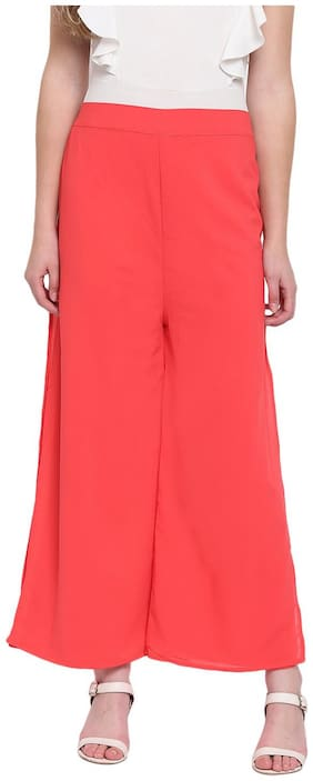 RIVI Crimson Womens Layered Palazzo Trouser