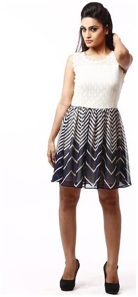RIVI Multi Printed A-line dress