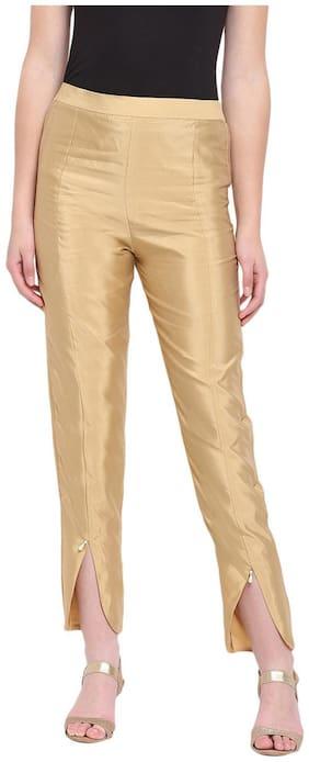 RIVI Women Yellow Regular fit Regular trousers