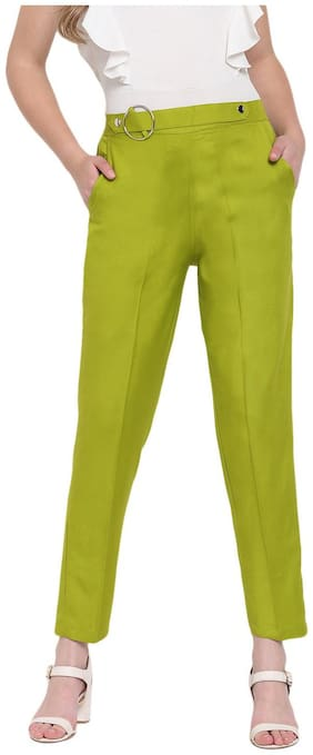 RIVI Women Green Regular fit Regular trousers