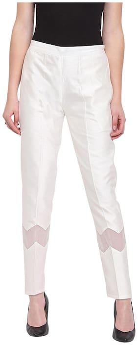 RIVI Women White Regular fit Regular trousers