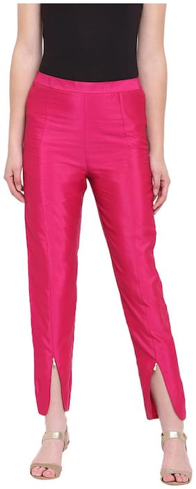 RIVI Women Pink Regular fit Regular trousers