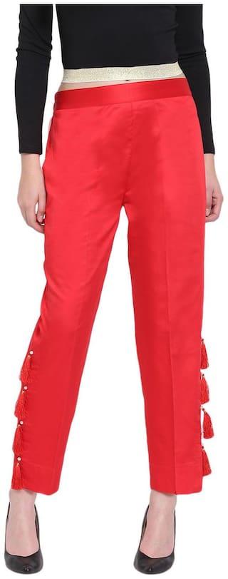 RIVI Women Red Regular fit Regular trousers