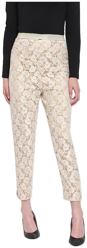 RIVI Women White Regular fit Regular trousers