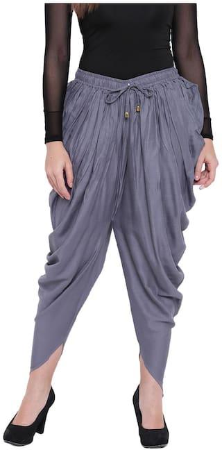 RIVI Women Cotton Grey Tulip Pants