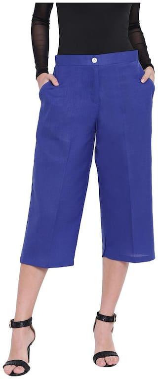 RIVI Women Blue Flared fit Regular trousers