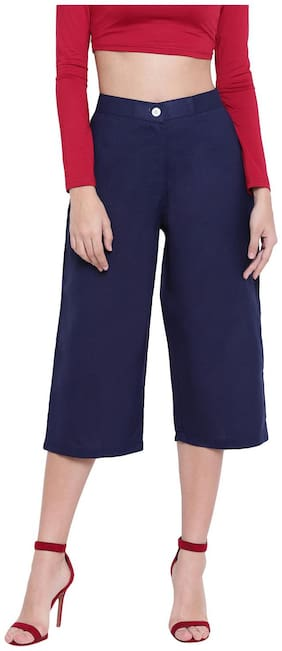 RIVI Women Blue Flared fit Regular trousers