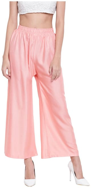 RIVI Women Pink Flared fit Regular trousers
