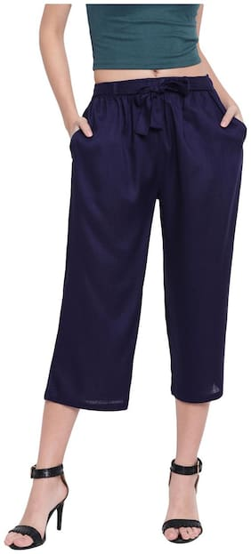 RIVI Women Blue Regular fit Regular trousers