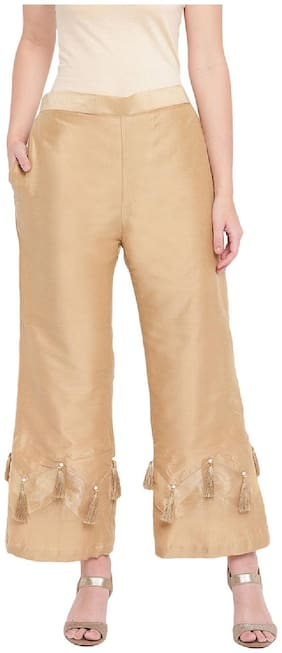 RIVI Women Gold Regular fit Regular trousers