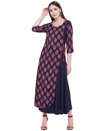 RIVI Blue Floral Maxi dress
