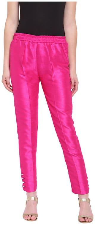 RIVI Women Pink Regular fit Regular trousers