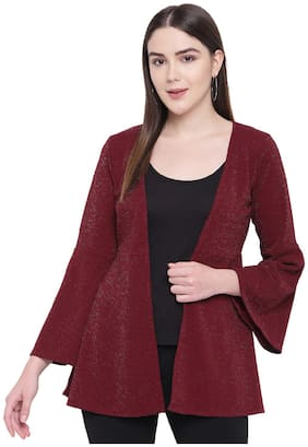RIVI Women Shrug - Burgundy
