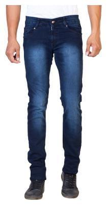 ROAD ROCKERS Men Navy Blue Slim Fit Jeans