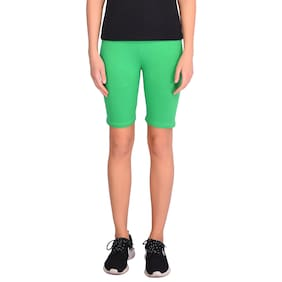 Robinbosky Women Solid Sport shorts - Green