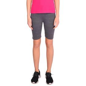Robinbosky Women Solid Sport shorts - Grey
