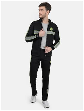 ROCK.IT Men Black Solid Regular Fit Track Suit