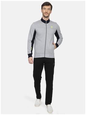 ROCK.IT Men Grey Solid Regular Fit Track Suit
