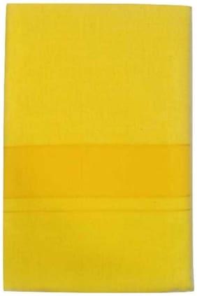 ROLIMOLI Cotton Solid Regular dhoti Dhoti - Yellow