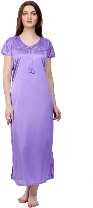 ROWENA Purple Night Gown
