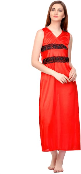 ROWENA Red Night Gown