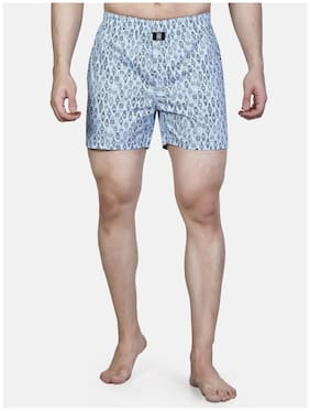 Roxton Printed Boxers - Blue ,Pack Of 1