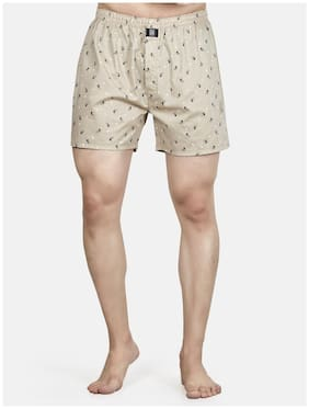 Roxton Printed Boxers - Beige ,Pack Of 1