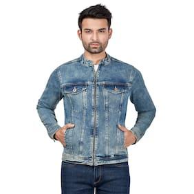 Roxton Men Blue Solid Denim jacket