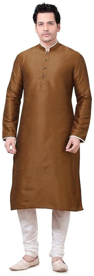 Royal Designer Silk Blend Kurta And Churidar