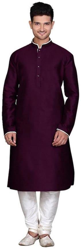 Royal Designer Silk Blend Kurta And Churidar