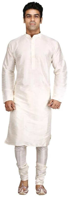 ROYAL ESSENTIALS CREAM SILK KURTA CHURIDHAR