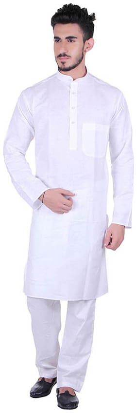 Royal Kurta White Linen Kurta Pyjamas
