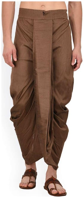 Royal Kurta Blended Solid Regular dhoti Dhoti - Brown