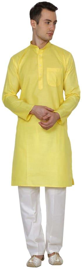 Royal Kurta Men's Cotton Linen Kurta Pyjama